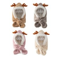 Christmas Baby Hats Kids Caps Toddler Hat Girls Boys Cap Autumn Winter Warm Children Accessories Scarf 1-4Y B8729