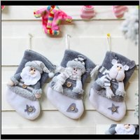 Christmas Decorations Festive & Gardenchristmas Stockings Pendant Cloth Ornaments Small Boots Year Kids Candy Bag Home Party Decoration Suppl