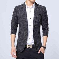 Men's Suits & Blazers Men Casual Mens Formal Business Fashion Male One Button Lapel Long Sleeve Slim Fit Blazer M-3XL 5Q4A