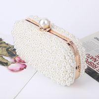 Weiße Perle Hochzeit Kupplung Party Geldbeutel und Handtasche Frauen Abend Luxus Design Kette Umhängetasche ZD1833