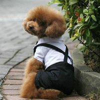 كلب القط الملابس الأمير سهرة القوس التعادل دعوى جرو زي بذلة معطف S-XL الزفاف للكلاب لطيف الملابس