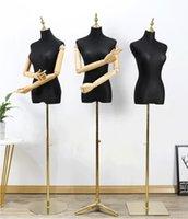 Model props Commercial Furniture female Korean clothing store models wedding dress frame window bodyfake half body gold