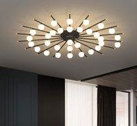 Siyah Altın Ekle LED Tavan Işık Akrilik Yaratıcı Modern Nordic Yüzey Montaj Panel Lambası Oturma Odası Yatak Odası Lobisinde Ev Deco