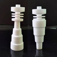 Billigste 6 in 1 domelloser Keramik Nagel 10mm 14mm 18mm männliche weibliche Gelenk gegen Titan Nagel GWC6890