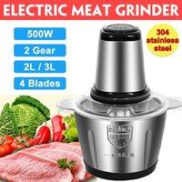 304 Edelstahl Elektrische Fleisch Chopper Fleischschleifmaschine Mincer 2 Geschwindigkeiten 4 Klinge 3L / 2L Kapazität Fleischgerät Schneider Fleisch Slicer
