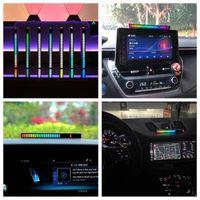 Interior&External Lights Voice Control LED Level Indicator Music Rhythm Spectrum Bar Audio Light Flexible DC5V 32 \full-color Display S6P9