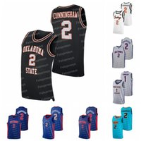 2 Cade Cunningham Oklahoma State NCAA 대학 고등학교 농구 유니폼 Mens Womens Youth