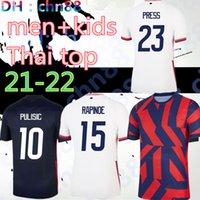2021 2022 pulisic لكرة القدم جيرسي بعيدا الصفحة الرئيسية 21 22 dempsey مورغان رابينو لويد إرتز الصحافة هيث المرتبط أمريكا رجل الاطفال النساء قمصان كرة القدم الولايات المتحدة S-XXL