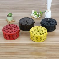 Fragrance Lamps Metal Incense Burner Portable Holder For Home And Mosquito Garden Coil Box Retro Camping R7B4