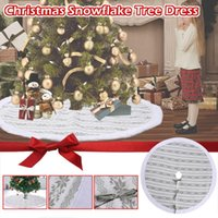 Christmas Decorations White Tree Skirt Base Faux Fur Xmas Floor Mat Ornaments Decor Cover Home Party #3