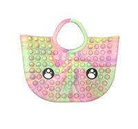 Fidget Toys Bag Cartoon Candy Color Pencil Case Push Bubble Handbag Sensory Squishy Stress Reliever Autism Needs Anti-stress Rainbow Toy For Children Adult-TOPN884