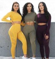 تشكيل 2 قطعة امرأة اليوغا مجموعة الرياضة سلس رياضة الملابس تناسب أنفسي مثير اللياقة البدنية المحاصيل الأعلى + ارتفاع الخصر طاقة الطاقة سلس