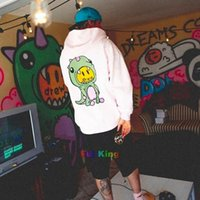 Designer Drew House Hoodies Hip Hop 유행 작은 공룡 면화 후드 풀오버 스웨터 커플 착용 남성과 여성 패션 느슨한