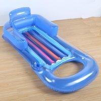 Hochwertiger aufblasbarer Wasser-Recliner mit Arm Sofa schwimmend Schwimmen Ring Spielzeug Bettreihe Lebensweste Boje
