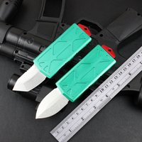 Mini Tactical Combat Automatic Knife EDC black color 6061-T6 Aviation aluminum handle tool Camping Outdoor Survival Hunting pocket knifes