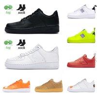 Otantik Klasik 1 Erkek Bayan Dunk Bir Flyline Koşu Ayakkabıları Spor Paten Yüksek Düşük Kesim Üçlü Siyah Beyaz Eğitmenler Sneakers Kaykay 36-45