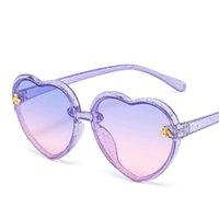 Fashion Brand Heart Bambini occhiali da sole bambini retrò carino rosa cartone animato occhiali da sole cornice ragazze ragazzi bambino uv400 occhiali occhiali