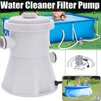 UK-Stecker 220V elektrischer Schwimmbad Filterpumpe für oberirdische Pools Reinigungswerkzeug Paddling Pool Wasserpumpe Filter Kit