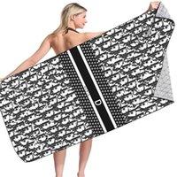 편지 캐주얼 아이 스타일 비치 타월 패션 여름 목욕 수건 고품질 클래식 홈