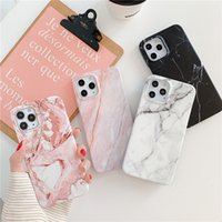 Casi di telefono in pietra di marmo per iPhone 12 11 Pro XS Max XR x 8 7 6S Plus Soft TPU Case Matte