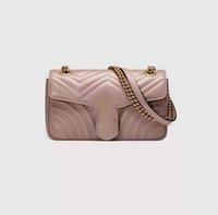 Mulheres Designer Bolsas Bolsas De Ombro 3 Tamanho Bolsa De Couro Real Alta Qualidade Senhora Moda Marmont Genuine CrossbodPurses Backpack Tote