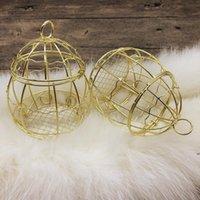 إمدادات الزفاف الذهب مربع الأوروبي رومانسي الحديد المطاوع قفص العصافير صناديق الحلوى البحرية الشحن FWB7368