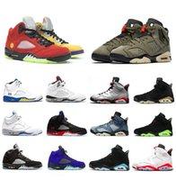 Quais são os 5 Cactus Jack 6 Homens Sapatos de Basquete Hyper Royal 5s Médio Olive Hare 6S Infravermelho Top 3 Homens Treinadores Esportivos Sneakers