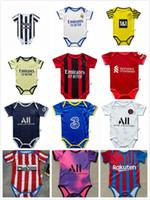 KANTE GIROUD PULisic Baby Trikots Ibrahimovic Mandzukic 2021 2022 Real Madrid 2 Sterne Mbappe Kean Verratti Baby Football Jersey 6-18 Odegaard Saka Monate Soccer Shirt