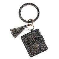 Designer Tasche Brieftasche Leopard Print PU Leder Armband Keychain Kreditkarten Brieftasche Bangle Quassel Schlüsselanhänger Handtasche Zubehör EEB5665