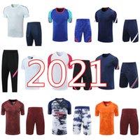 2021 Gerçek Madrid Erkekler Kısa Kollu Gömlek Eğitim Takım Eşofman 20 21 MBappe Icardi Tehlike Şort Futbol Pantolon Futbol Gömlek Üniforma Set