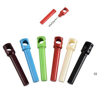 Stainless Steel Wine Openers Screw Corkscrew Creative Pen Holder Bottle Opener Portable Household Kitchen Tools 10.5*2cm DHF8946