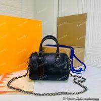 Высококачественные объекты Alluds Luxury Buashs Speedy цепи BB LAGLBSKIN TEBOSED PACKENT BOSTON Наклонная сумка на плечо подушка для подушки Crossbody сумки M57111