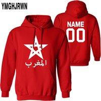 모로코 남성 풀오버 맞춤형 이름 번호 3 월 스웨트 셔츠 국기 MA 킹덤 아랍 아랍 국가 캐주얼 소년 의류