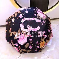 Xiaoxiangshan Camellia 접이식 완전 자동 자외선 차단제 및 안티 자외선 차양 써니 우산 이중 목적 선물