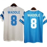 Marseille 레트로 om 1990/91 papin cantona Waddle Marseille 축구 유니폼 빈티지 키트 클래식 셔츠