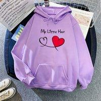 European and American letters love printed fleece hoodie hoodie women's autumn winter blouse loose large size