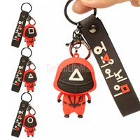 Cross-border hot-selling squid game doll key ring pendant hot spot masked squid game key ring pendant