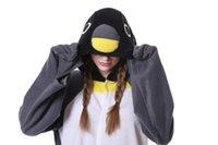HKSNG Yeni Yetişkin Hayvan Gri Penguin Onesie Kigurumi Pijama Gri Karikatür Polar Kostümleri Tulumlar Noel Hediyesi Kadın Erkek