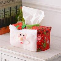 Decorações de Natal Tissue Capa Desktop Ornaments Home Decor Caixa de Tecido Xmas Suprimentos 16 * 10cm W-00990