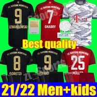 2021 2022 Davies Bayern Soccer Jerseys حارس المرمى GK NEUER SANE Lewandowski Muchen Muller Gnabry Munich 21 22 الكبار الرجال أطفال كيت الشباب