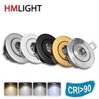 Downlights LED Mini 1w 3W 5W Dimmable Spotlight-Deckenabwärts-Lichtlampe CRI RA 90 AC85-277V 110V 220V Aluminium 52mm