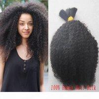 100g Afro Kinky Bulk 1 Bündel Human Flecht Haarschütteln Kein Schuss mongolisches verworrenes lockiges Bulk Haar zum Flechtenhaar
