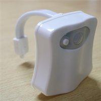 Olorful Motion Sensor Toilet Night Light, Home Banheiro Humano Corpo Auto Movimento Activado Sensor Sensor Luzes Luzes Lâmpada 8-Color 187 V2