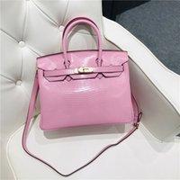 designers hand herme Lizard Leather temperament portable one shoulder messenger bag women's Bag Fashion handbag wan