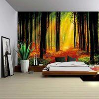 3D Psychedélico Forest Forest Fairy Garden Hippie Colgando Pared Decorativo Sala de estar Decoración de tapicería 150x200cm 334 R2
