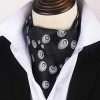 Hombre ascot corbata corbata paisley boda formal cuello cuello caballero poliéster cuello regalos personalizado logo corbatas