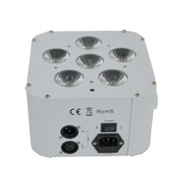 High quality 6X18W Battery powered and Wireless DMX LED Up light with Flight case