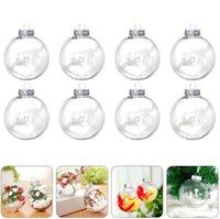 6 cm 8 cm 10 cm Temizle Noel Dekorasyon Süs Plastik Top DIY Doldurulabilir Baubles Xmas Ağacı Asılı Topları Düğün Parti Süslemeleri