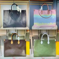 OnThego Tote Tote Lusurys Designer Designer Borse Fashion Genuine Pelle Tintura Borsa a tracolla Toron Doppia Maniglia Lady Shopping Bags Donne Borsa M45119 M45120 M45121