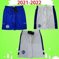 2021 2022 FC Schalke 04 Futbol Şort Bentaleb 21 22 Schalke Caligiuri Futbol Pantolon Kütucu Burgstaller McKennie Fußball-Hortum S-2XL